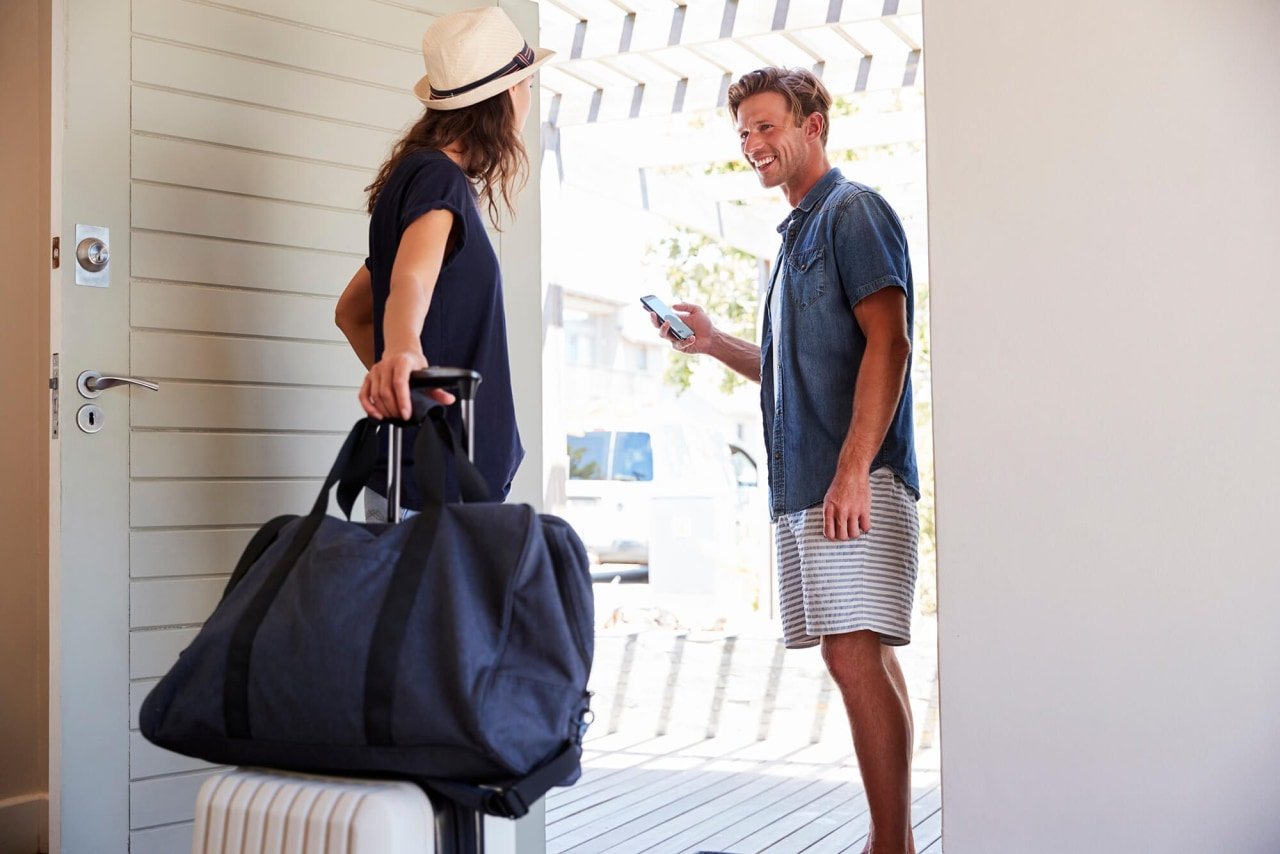 5 tips to keep holiday homes safe and bag, fashion, fashion accessory, fashion design, hand luggage, handbag, joint, luggage and bags, satchel, shoulder, street fashion, tote bag, travel, white, white