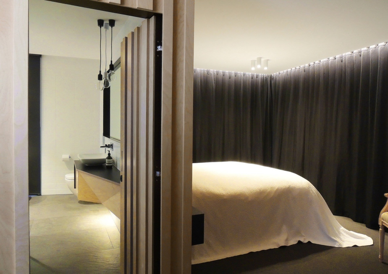 Mark Frazerhurst Architects – Winner – Tida NZ bedroom, furniture, interior design, lighting, room, suite, window, gray, black