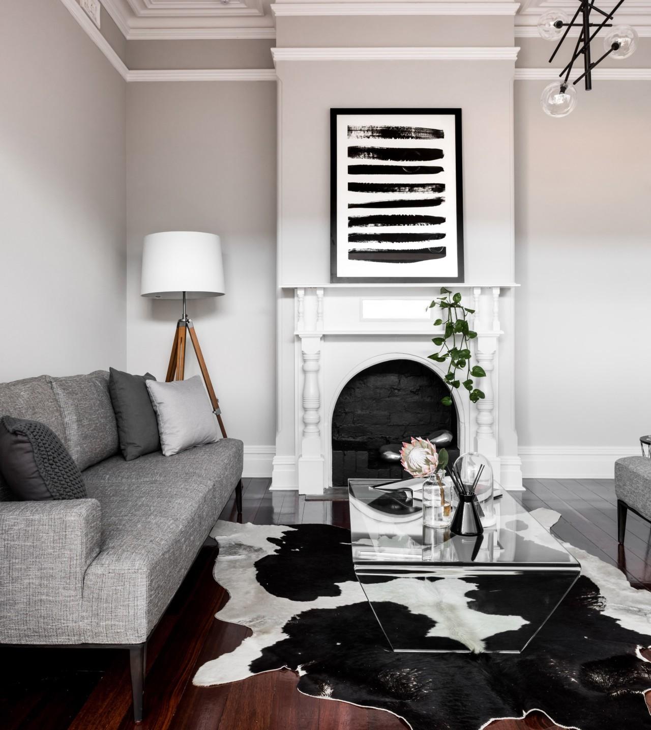 Monochrome living room -