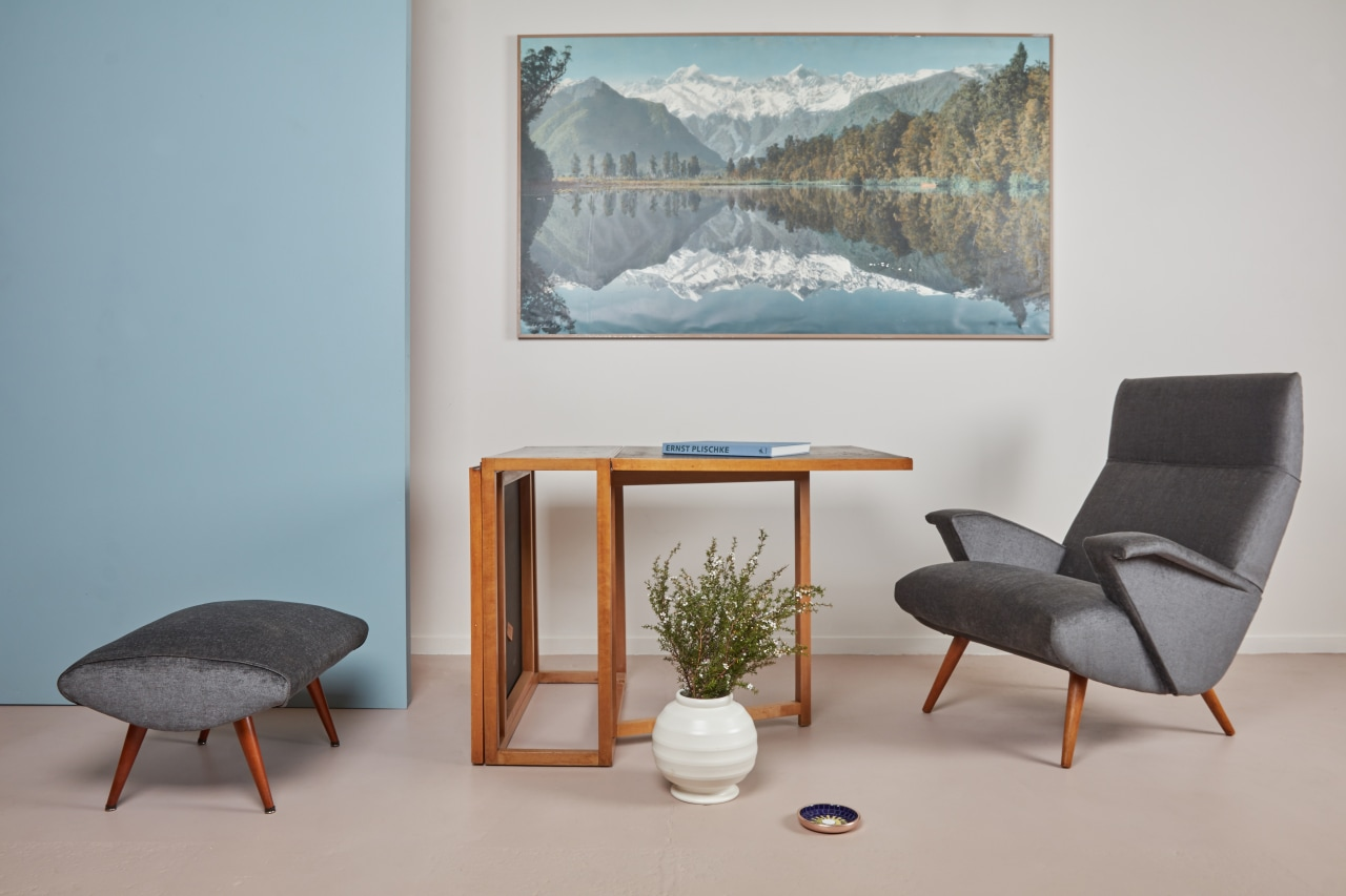 Select a few key pieces and layer an chair, furniture, interior design, table, gray