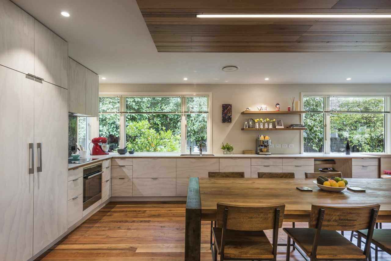 ​​​​​​​As part of a whole-house renovation, Jason Higham countertop, interior design, kitchen design, cabinetry, white kitchen, Higham architecture