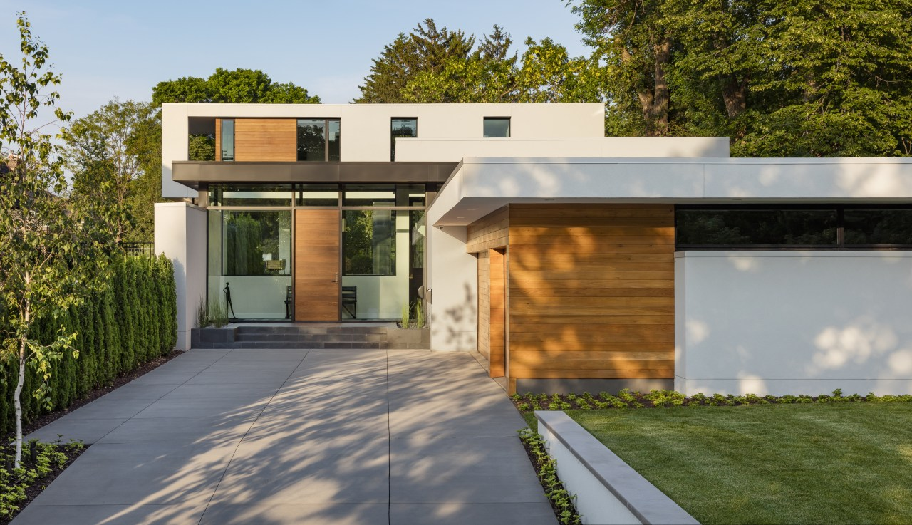 This house sits to the back of a architecture, elevation, home, house, property, siding, Peterssen Keller Architects, timber