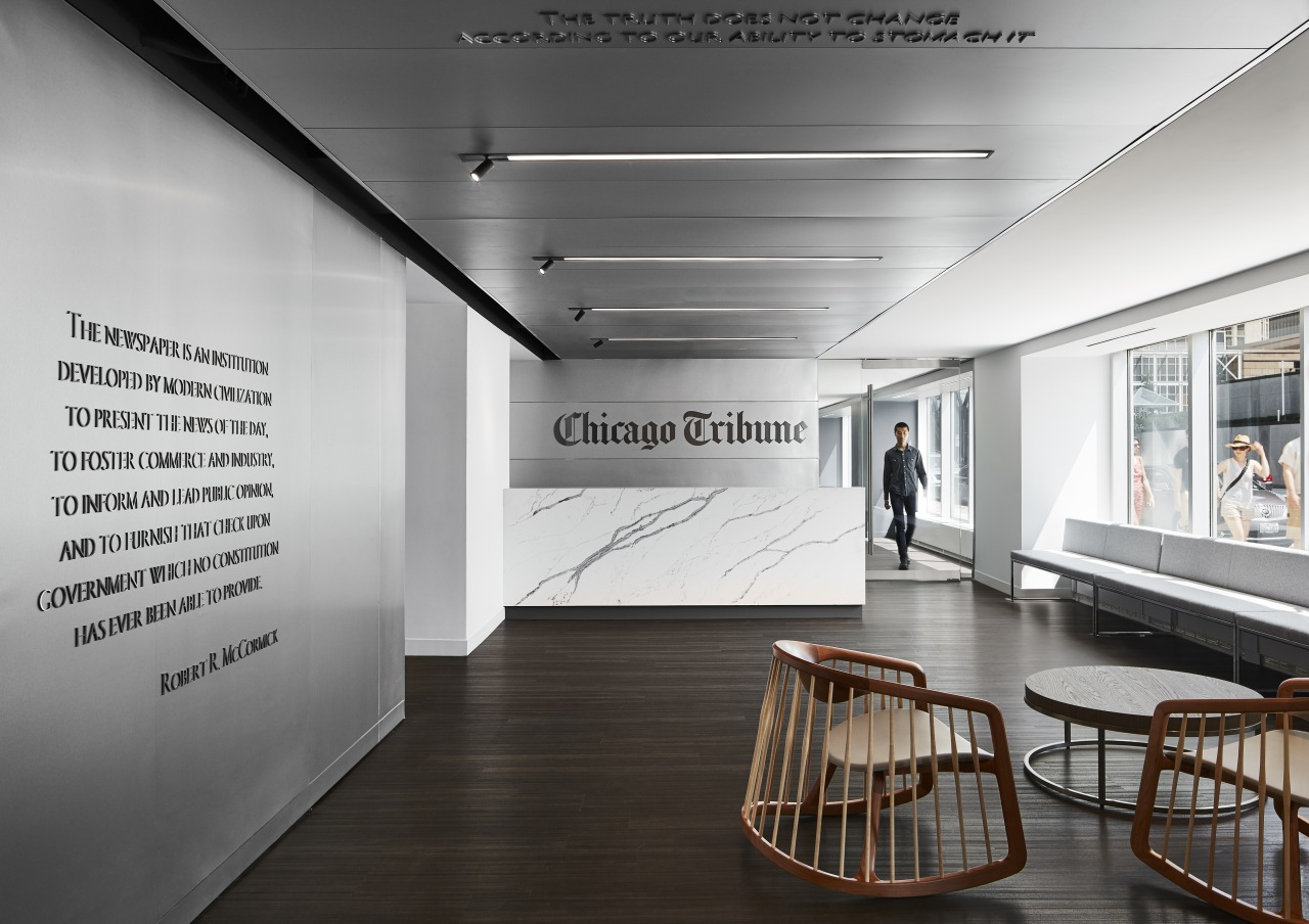 When the Chicago Tribune moved from its home exhibition, interior design, chicago tribue,  office, media, Eastlake Studio