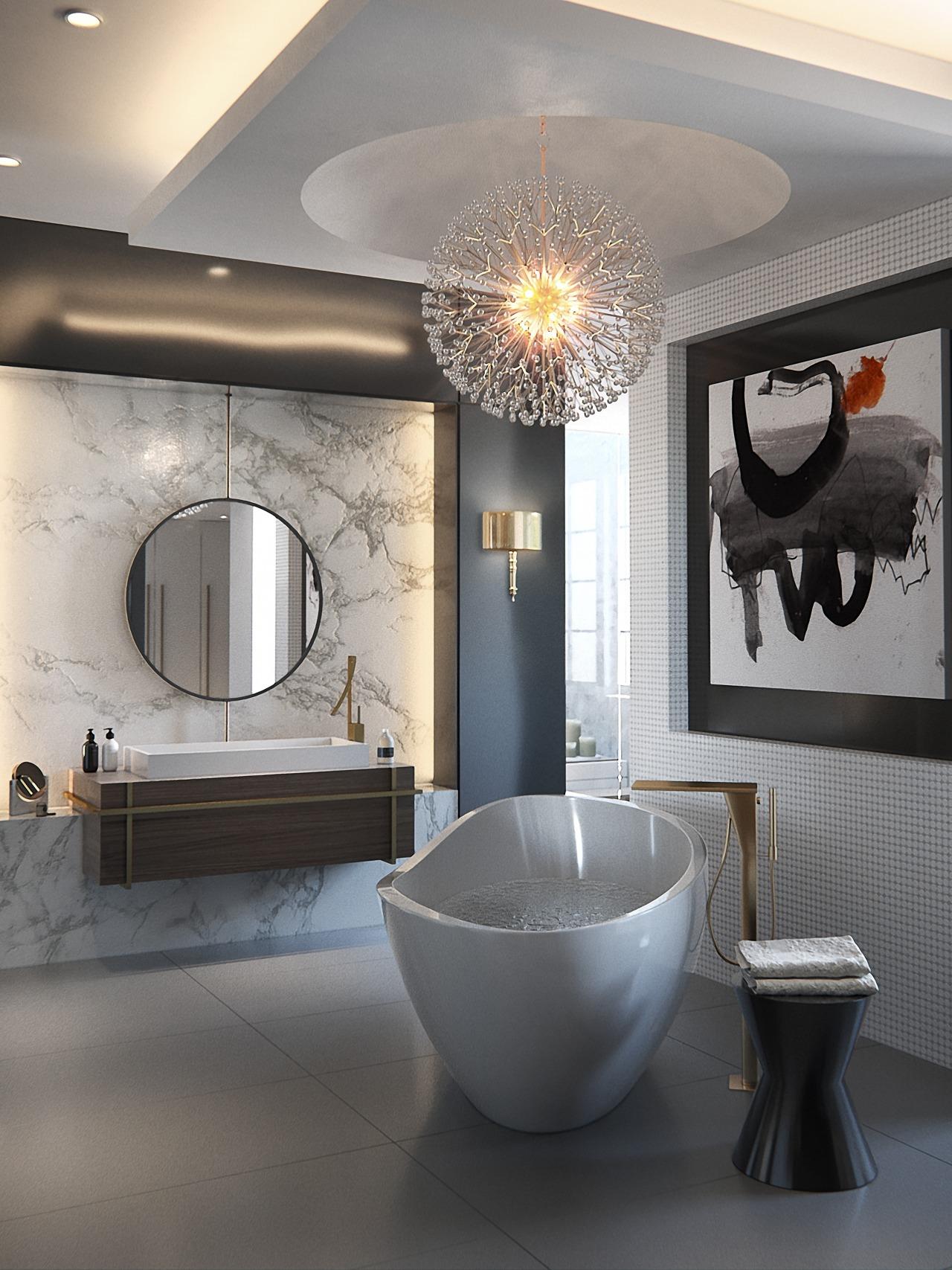 In this bathroom, architect Sandra Diaz-Velasco employed exotic architecture, bathroom, ceramic, design, floor, flooring, home, house, interior design, plumbing fixture, tile, toilet, Sandra Diaz-Velasco