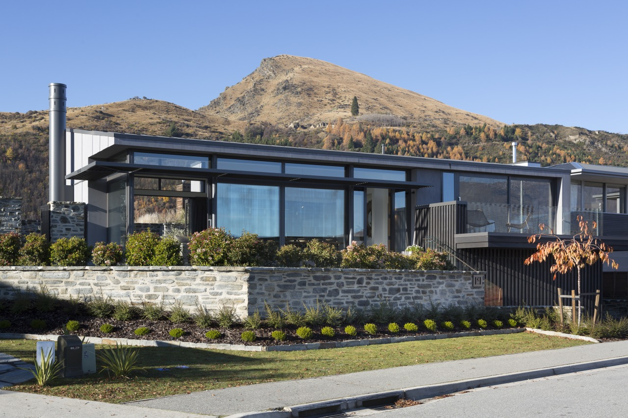 This spacious, modern home by Koia Architects offers architecture, building, cottage, home, house, landscape, roof, Koia Architects, cottage look