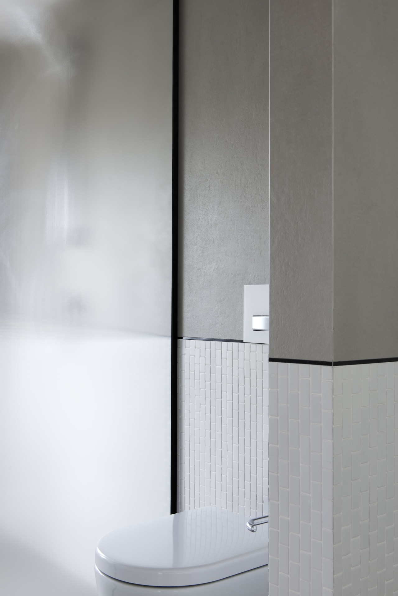 A part wall provides for a degree of gray, white
