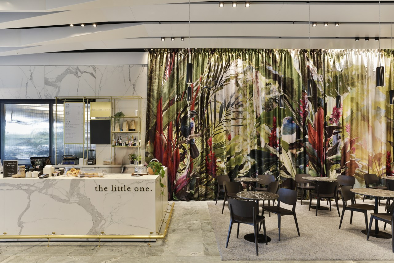 With a cafe and a variety of seating architecture, building, furniture, interior design, cafe, lobby, No 1 Sylvia park