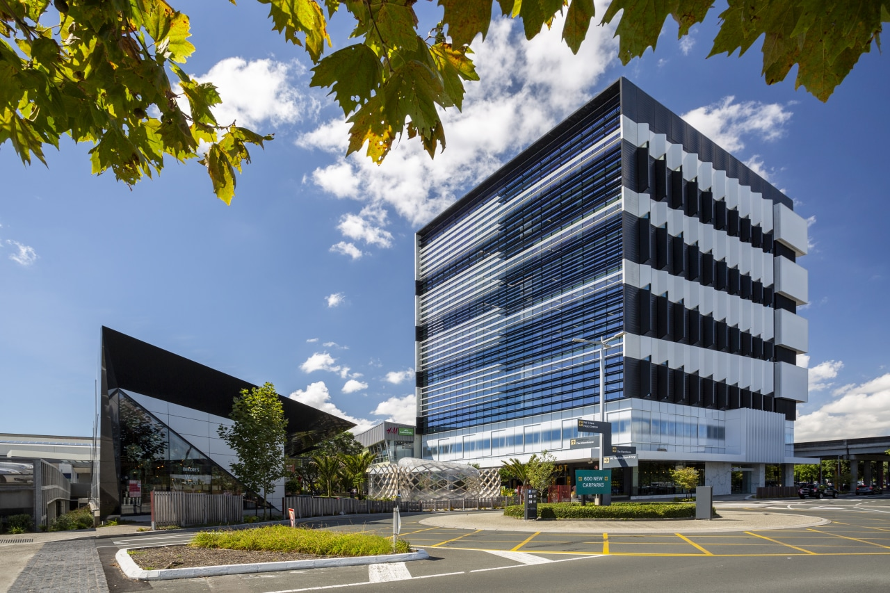 Architectus' design of the first commercial office building architecture, building, commercial building, office building, corporate headquarters, facade, mixed-use, project, property, urban design, cladding, Architectus, Sylvia park