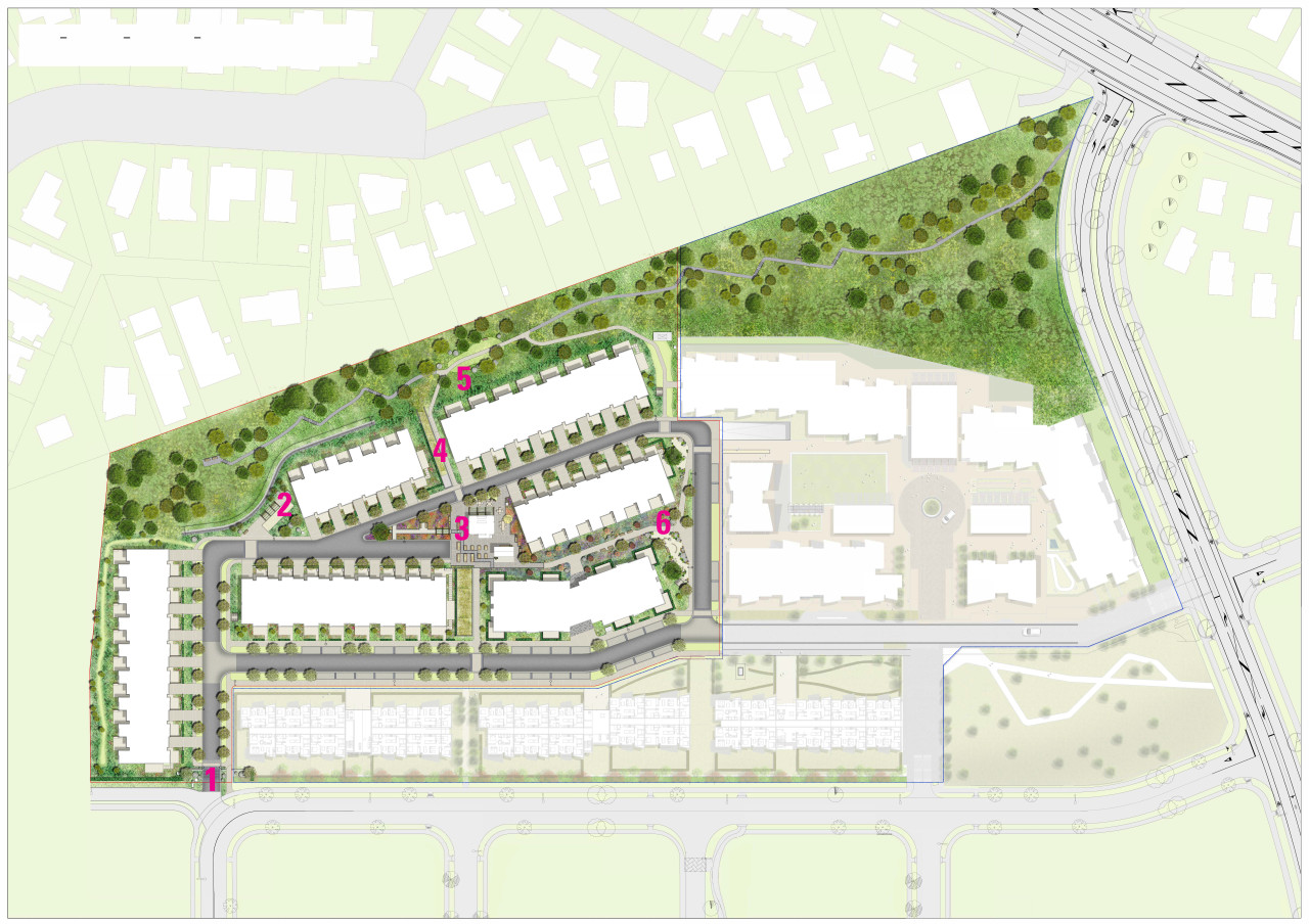 The masterplan for Gulf Rise by MetLifeCare shows architecture, senior living communities, Metlife care, Boffa Miskell