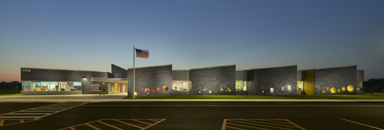 Rockford Public Schools District 205 Elementary School by brown, blue