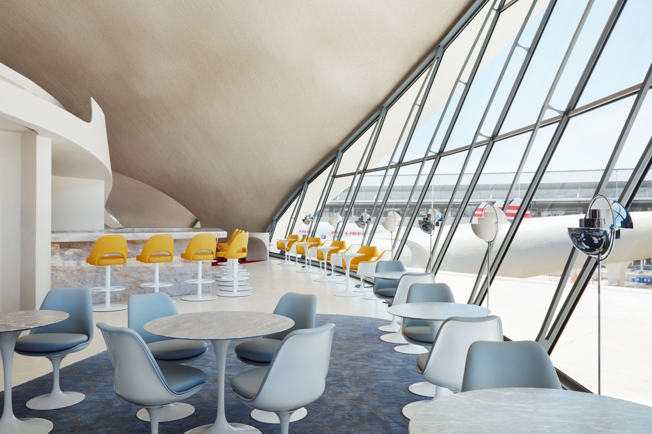 Bon appétit! At the TWA Hotel, at JFK architecture, TWA Hotel, JFK Airport, Paris Cafe