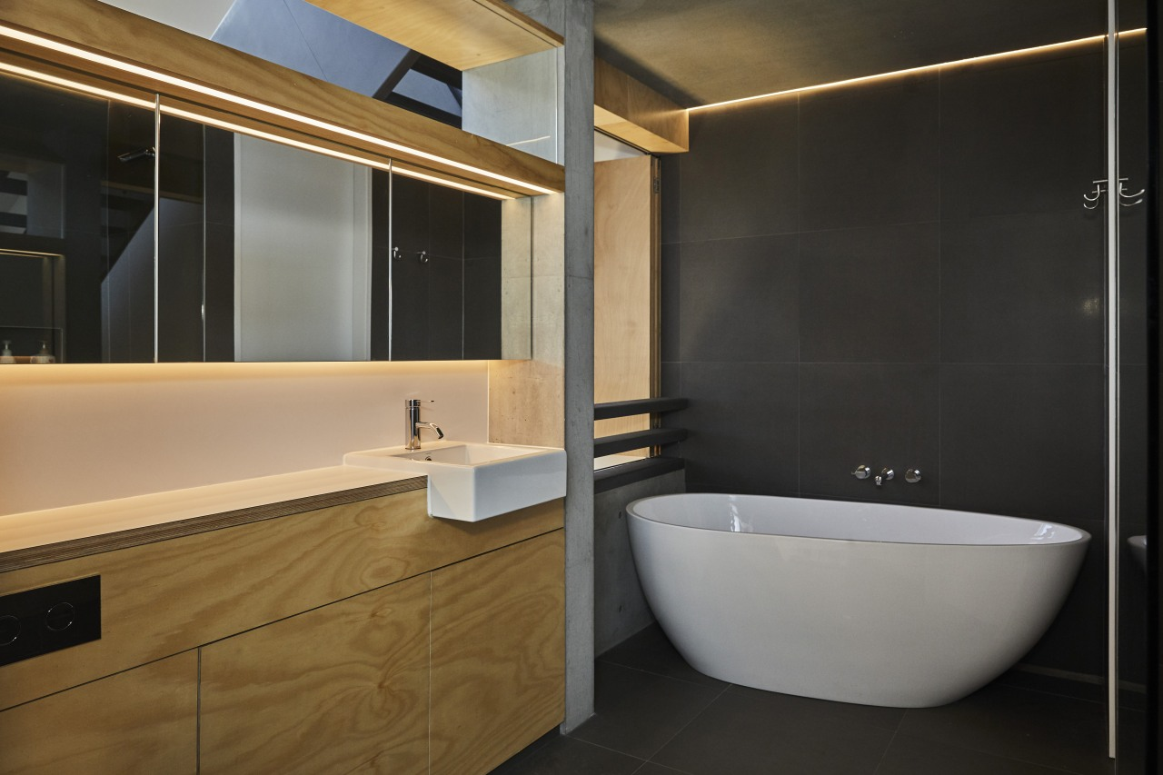 Strip lighting and LED concealed lighting offer a black