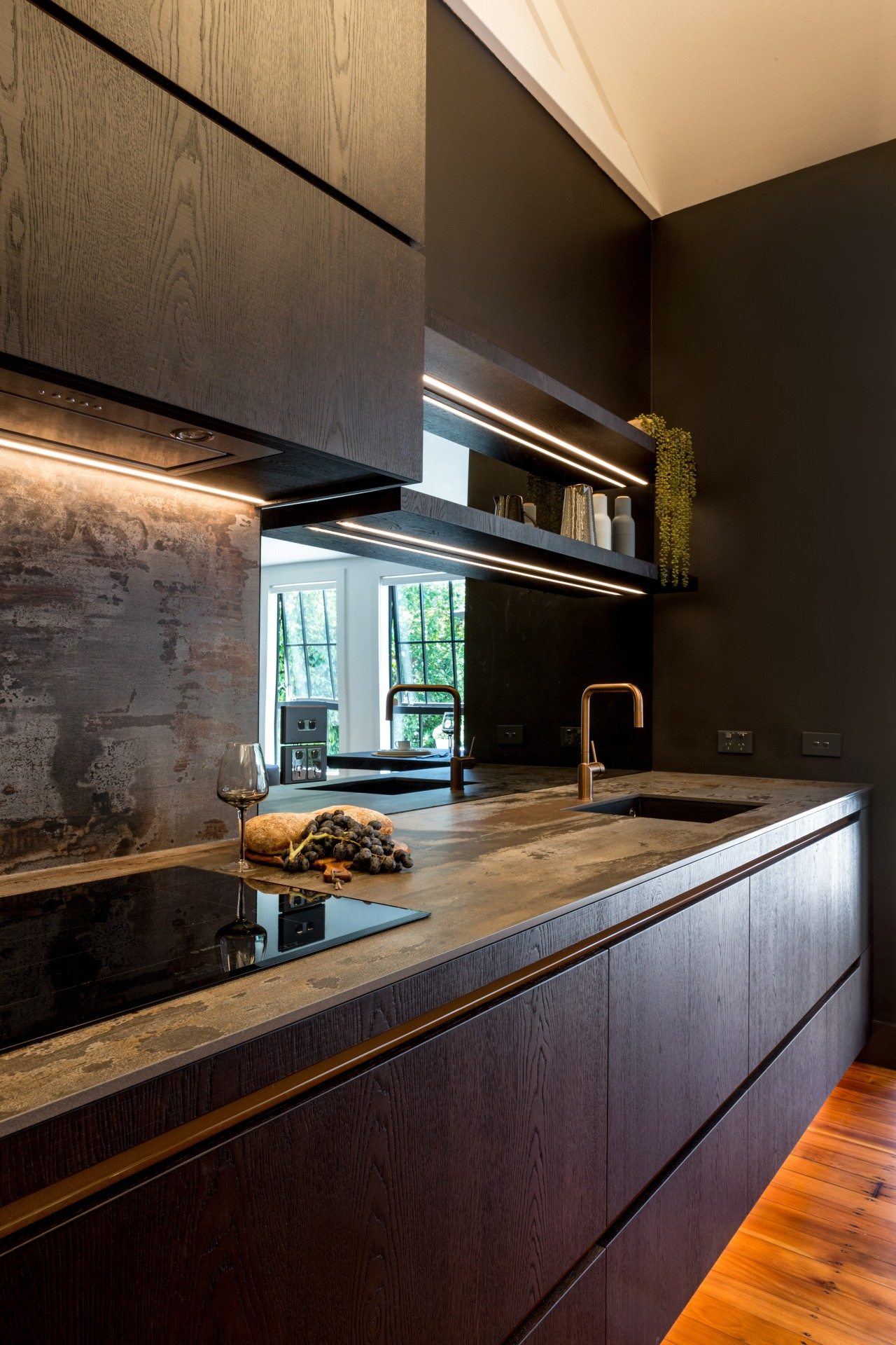 How best to accommodate a functional kitchen within black