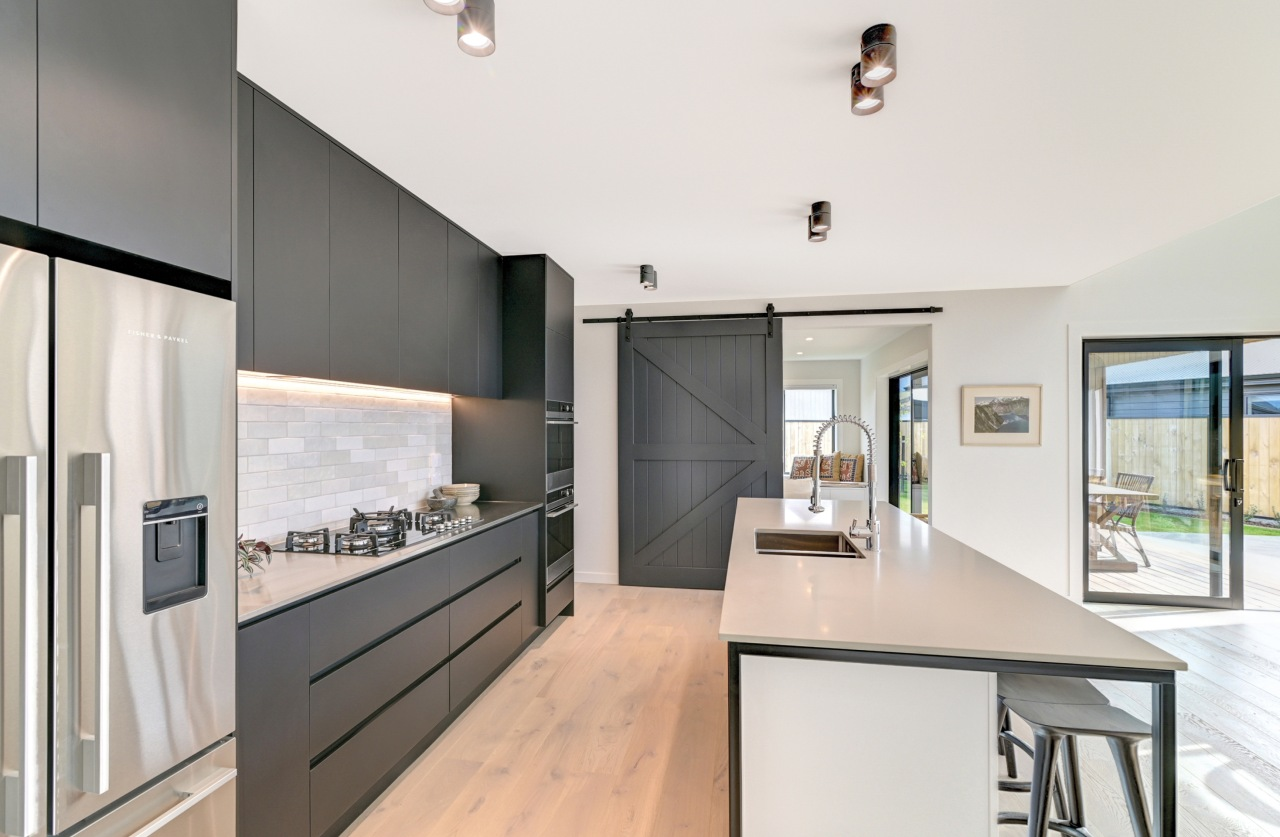 ​​​​​​​Command central – this modern kitchen includes the