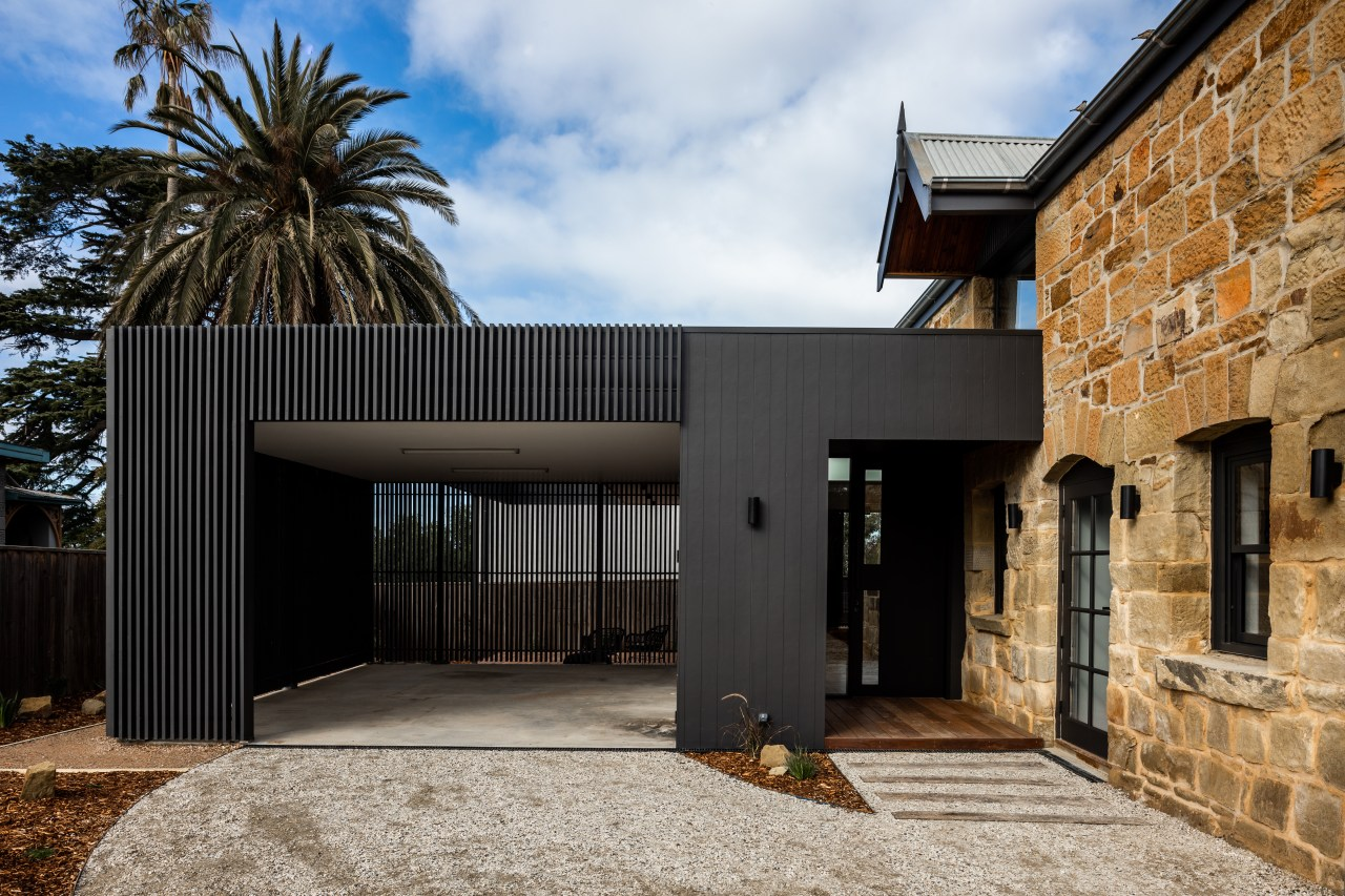 For this comprehensive heritage-meets-expansion-and -modernisation, the new dark-stained black
