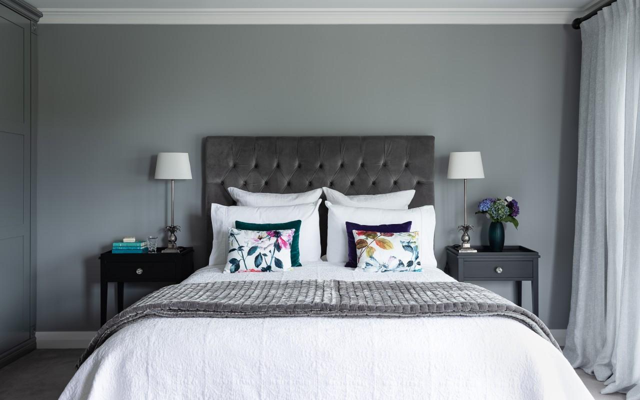 For this master suite by designer Natalie Du