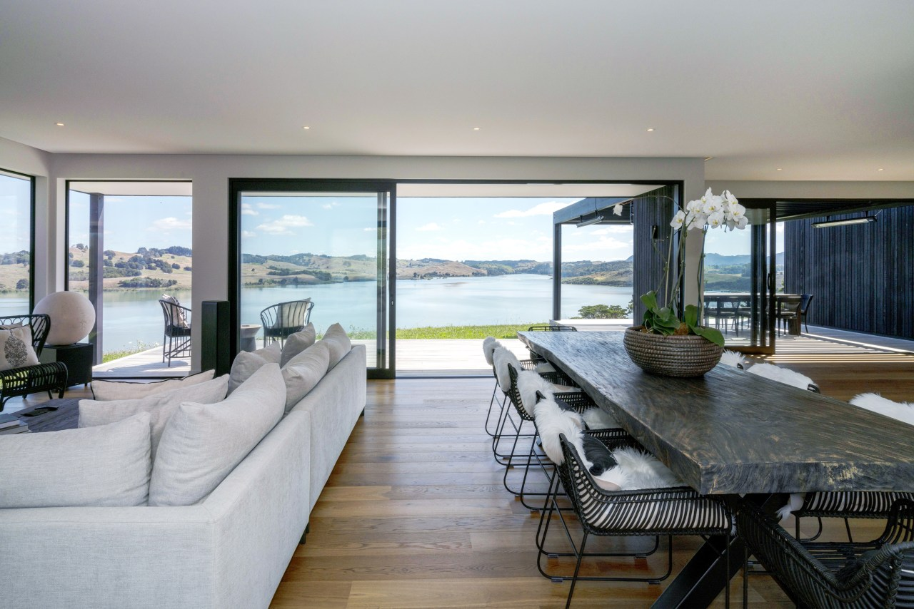 ​​​​​​​Floor-to-near-ceiling windows and sliding doors make the most