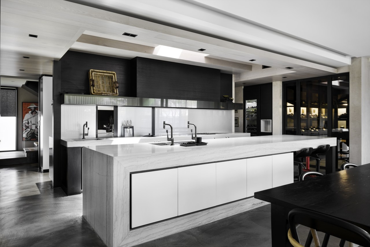 ​​​​​​​When planning the layout for this kitchen, designer
