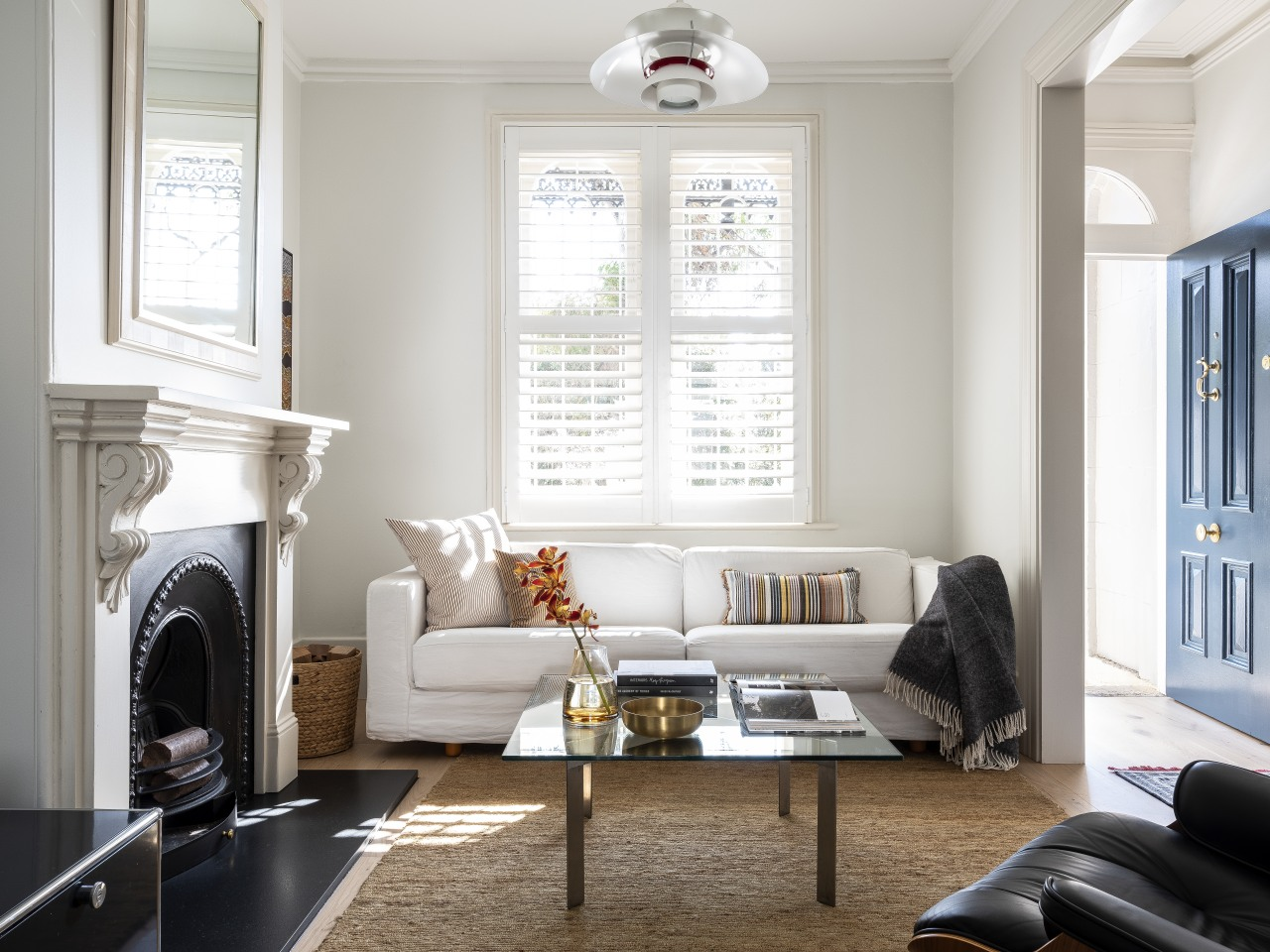 In this terrace home renovation, the formal lounge