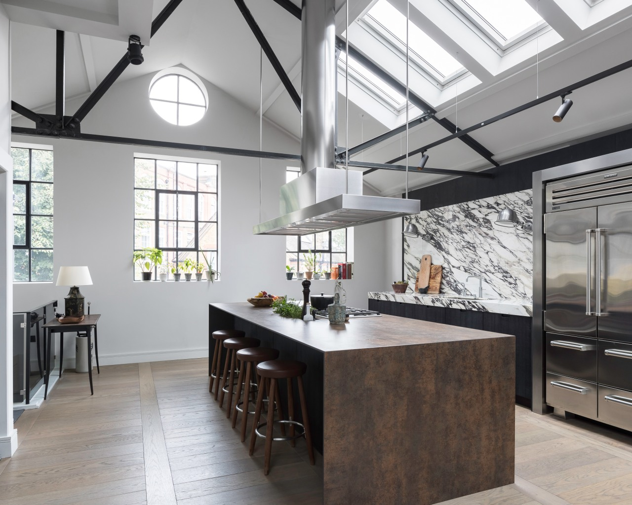 This former bacon factory's industrial environs provided the