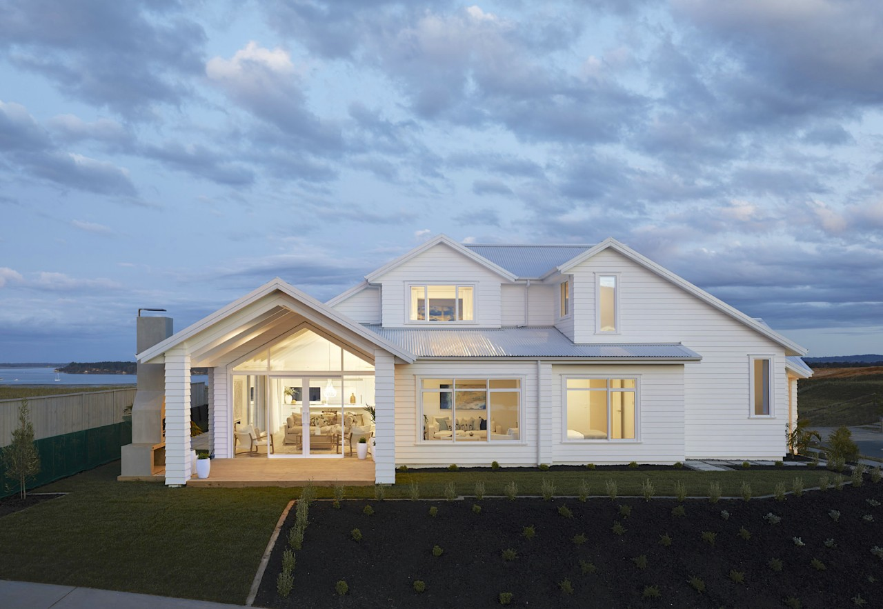 The two-storey home opens up to a generous