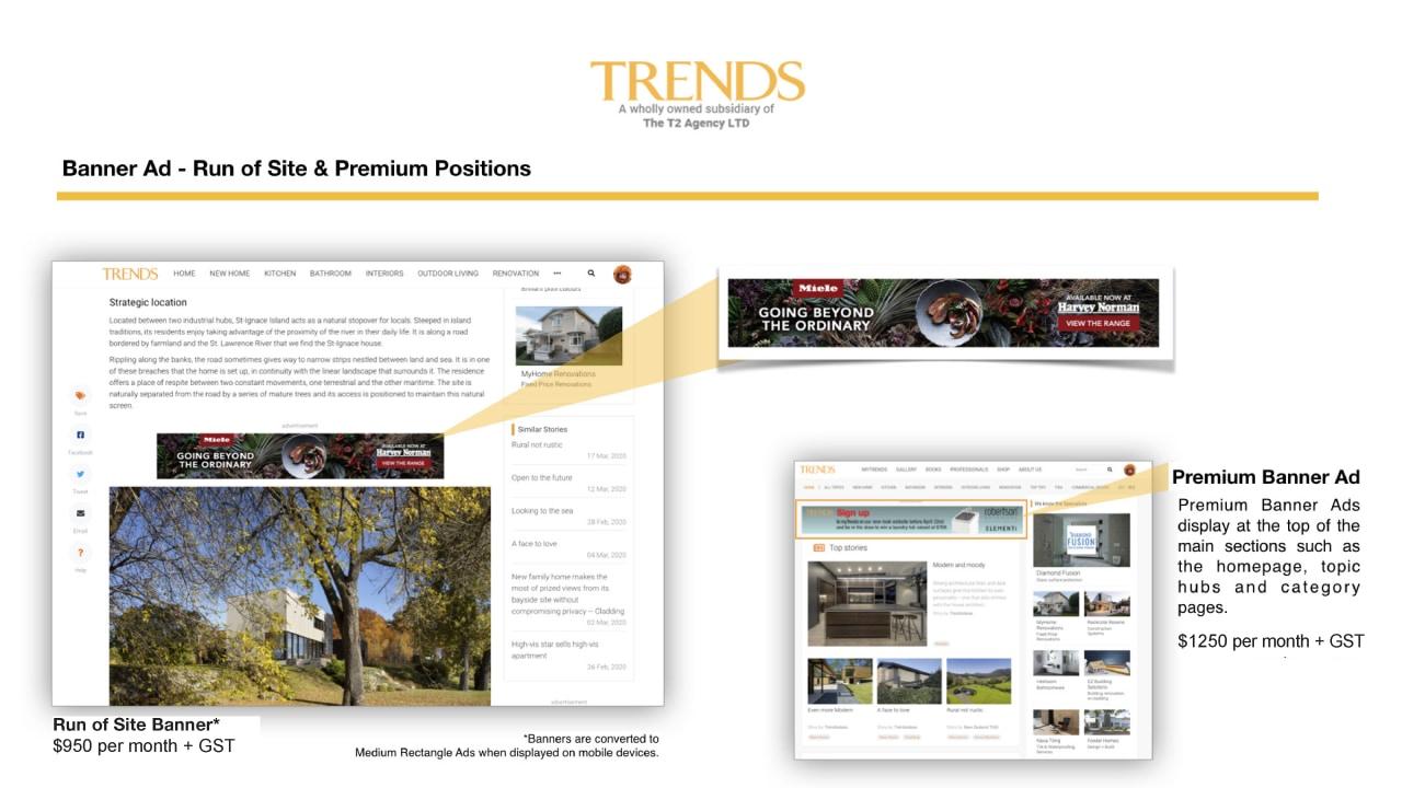Banner Ad – Run of Site & Premium