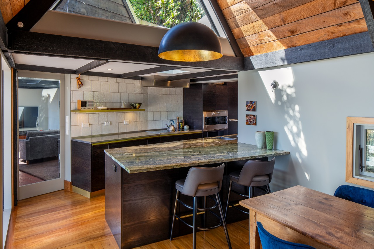 Designed by John Mills Architects, the new kitchen's
