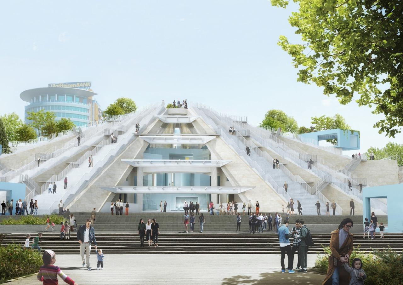 Construction has started on the Pyramid of Tirana,