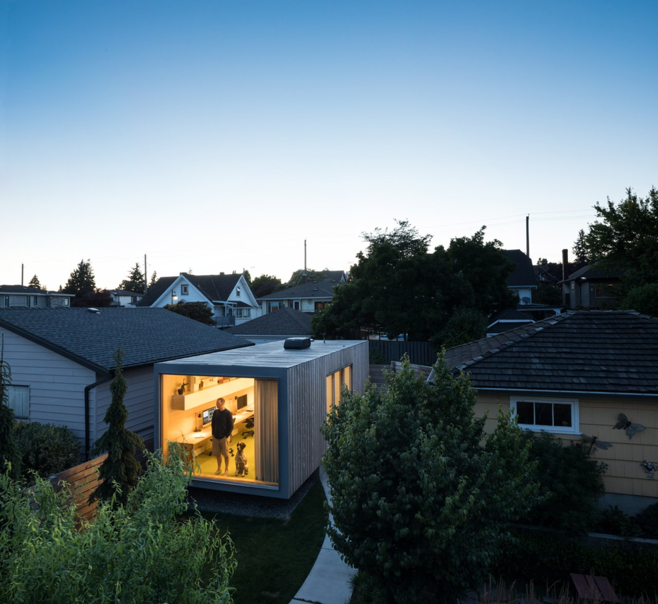 Architect in residence - architecture | cottage | architecture, cottage, estate, evening, facade, home, house, morning, neighbourhood, plant, property, real estate, residential area, roof, shed, sky, suburb, tree, black