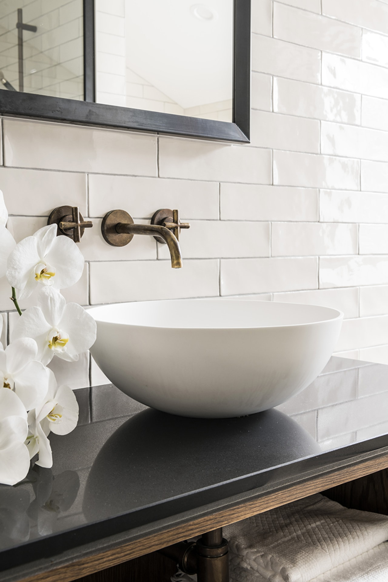 Past and present – brass tapware pays homage white