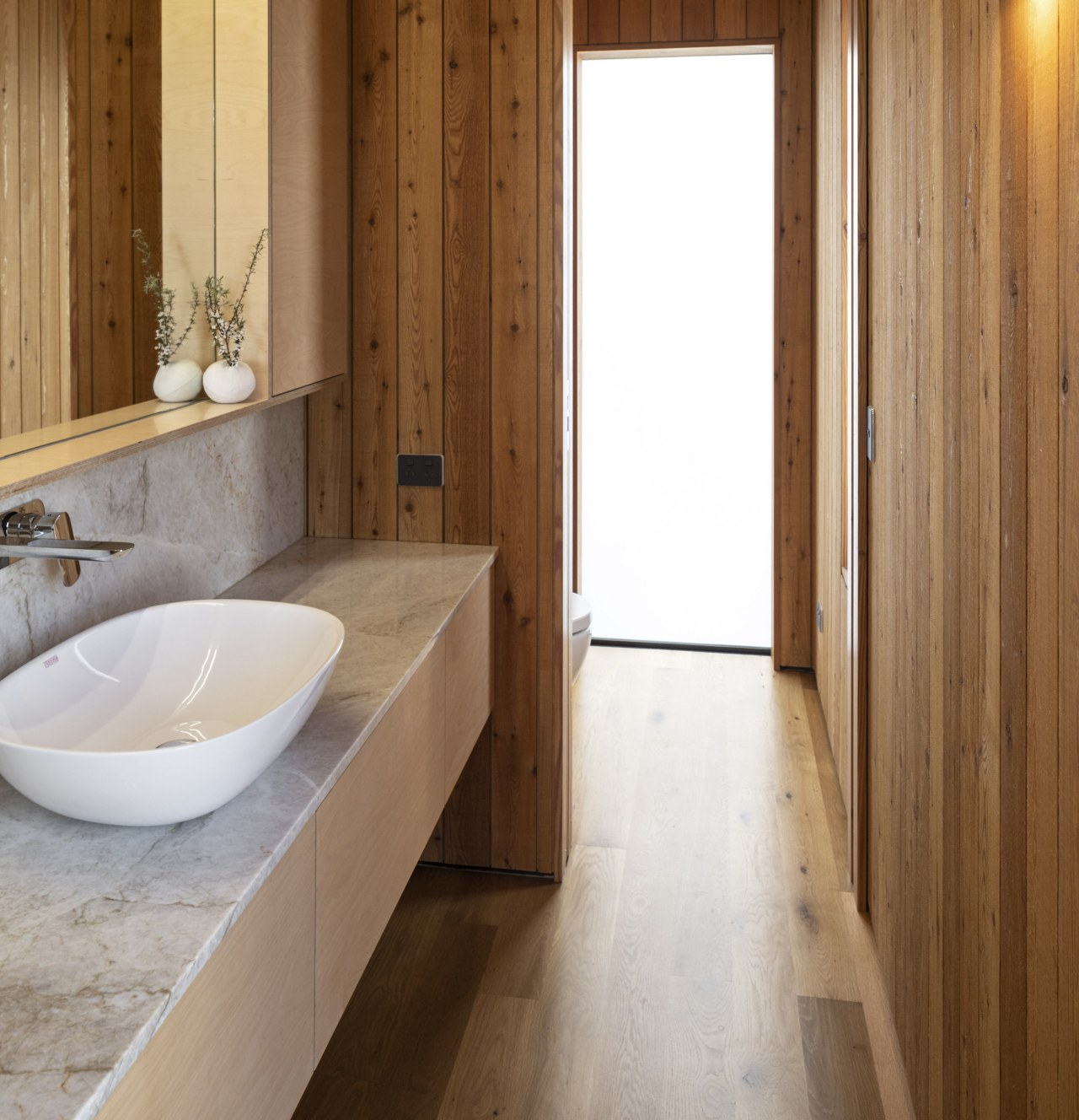 SGA TIDA NZ 2020 wood Bathroom marble vanity