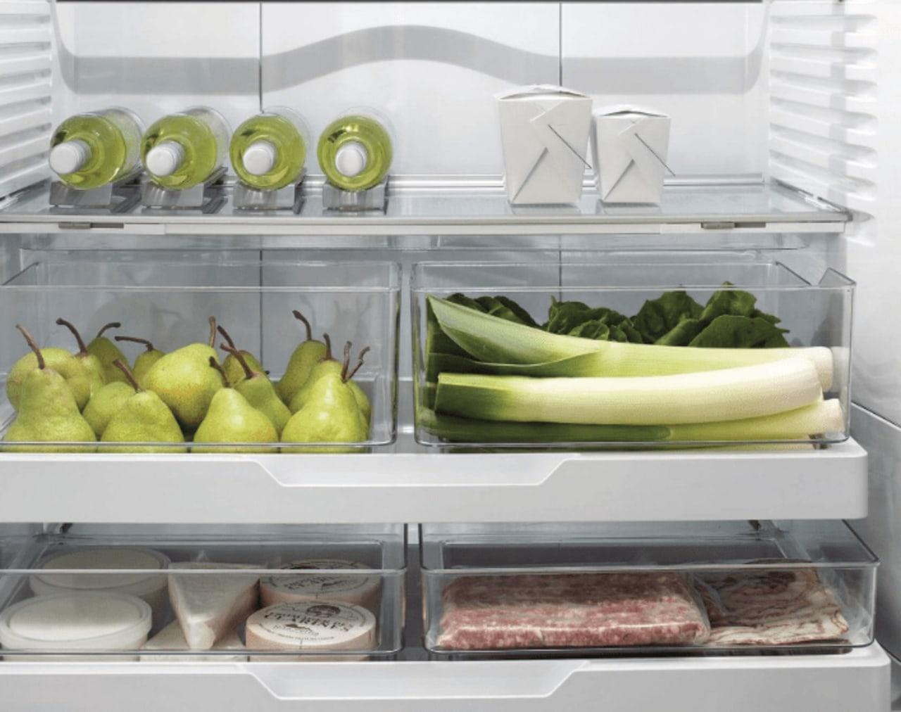 Certain smart fridges adjust things like temperature, airflow food, produce, vegetable, gray, white