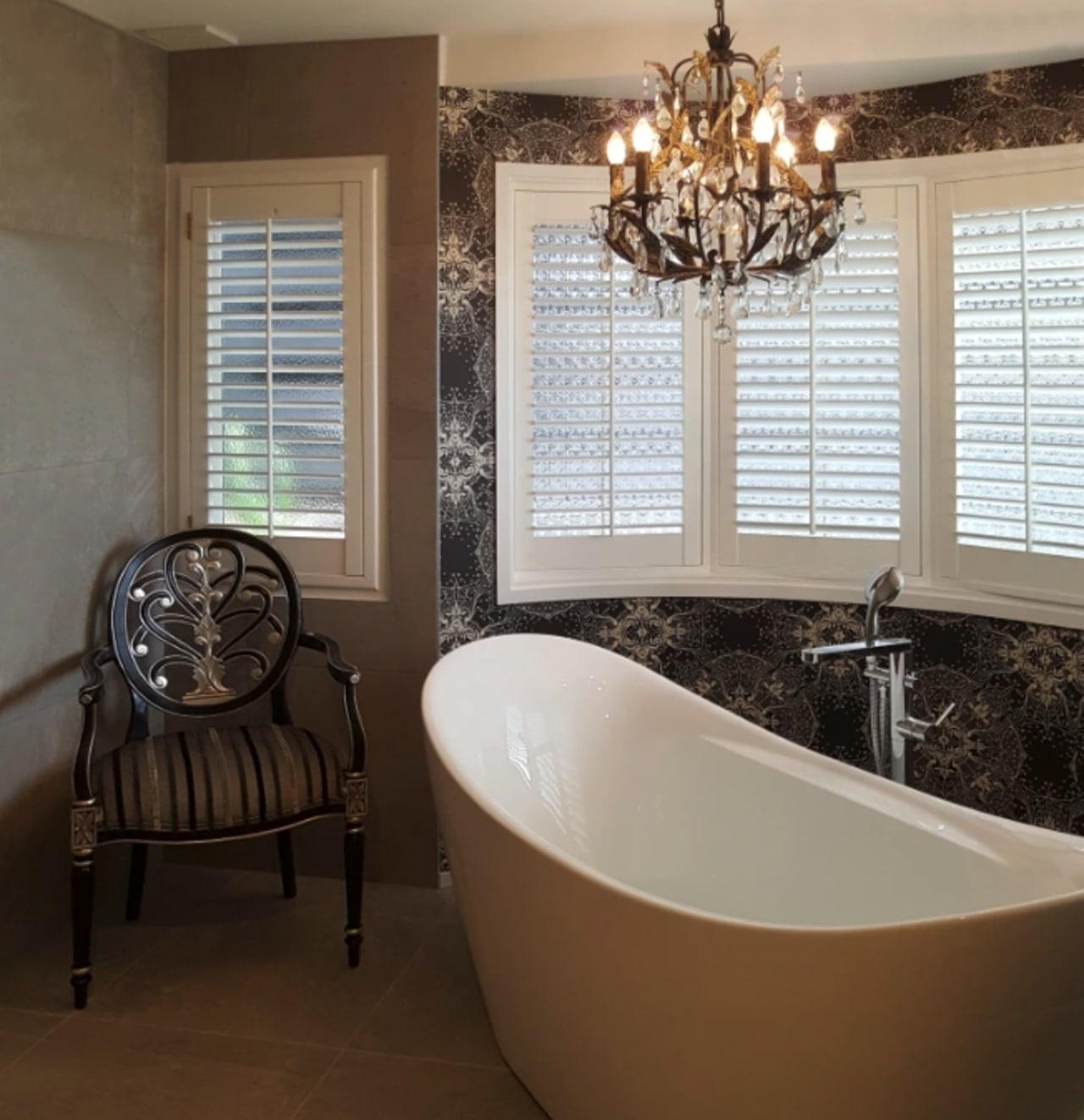 An elegant, functional custom-designed bathroom by Five bathroom, floor, flooring, home, interior design, plumbing fixture, room, sink, tile, wall, window, brown, gray