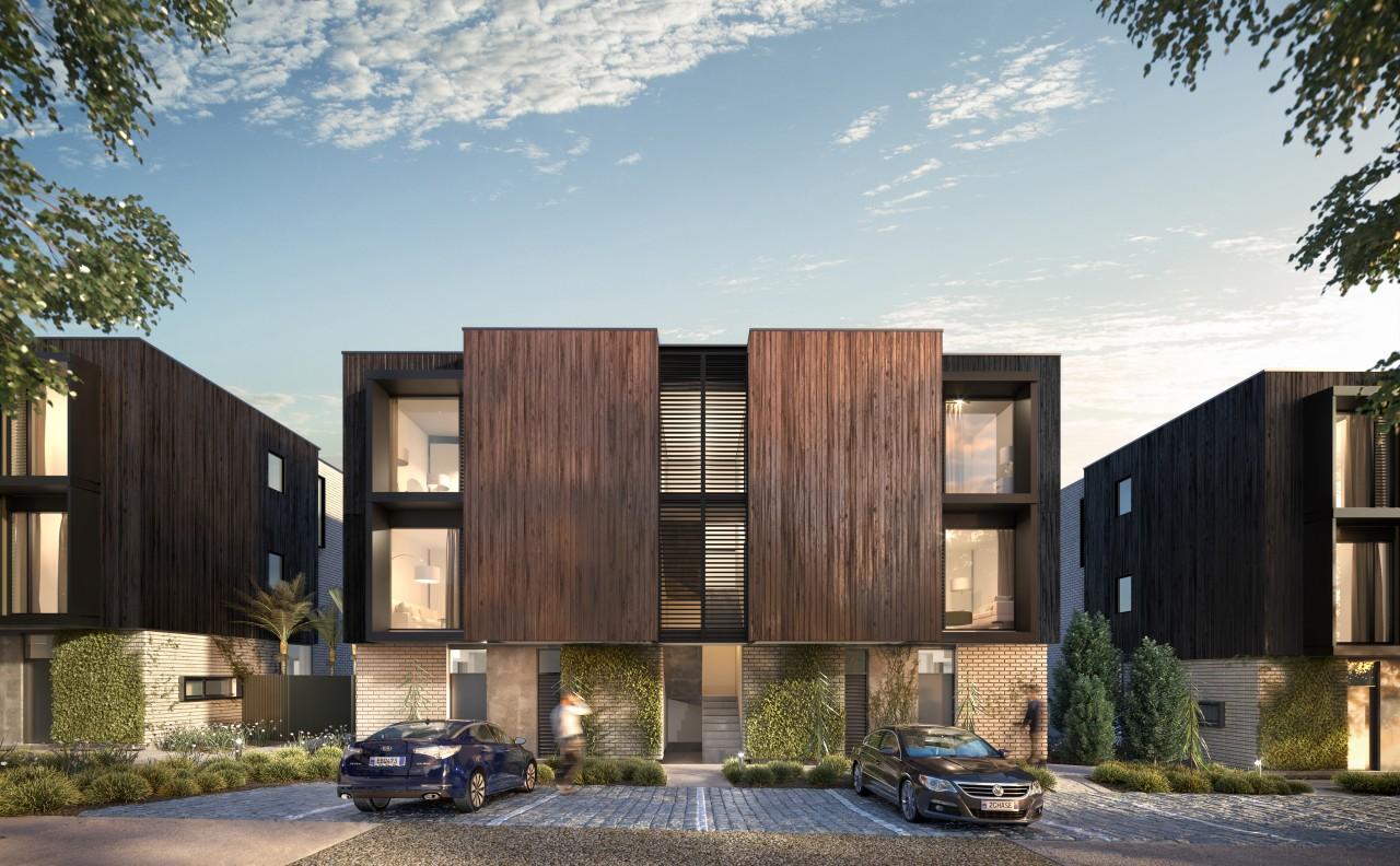 Contemporary, well situated and built to rigorous standards gray, black