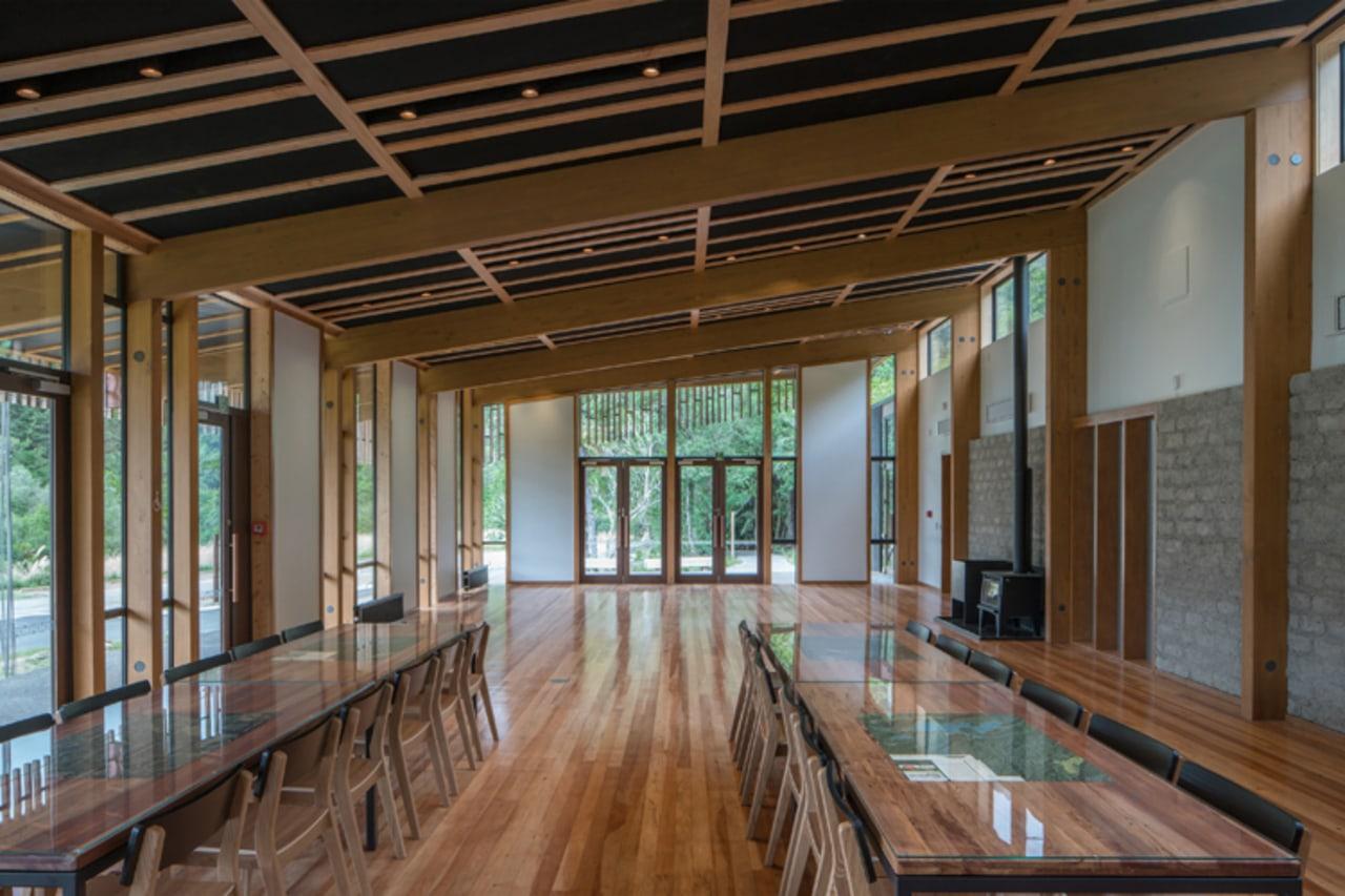 WINNER: Te Wharehou o Waikaremoana/ Te Wharehou o architecture, ceiling, daylighting, interior design, lobby, real estate, wood, brown