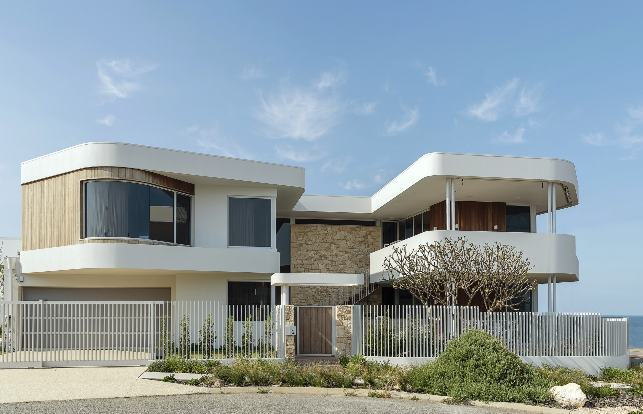 Well-rounded – this home's exposed corner site required