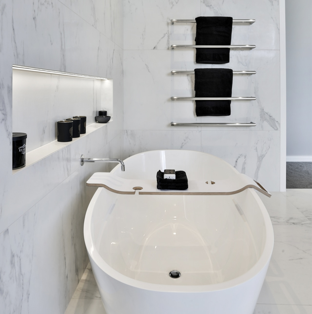 White marble bathroom -