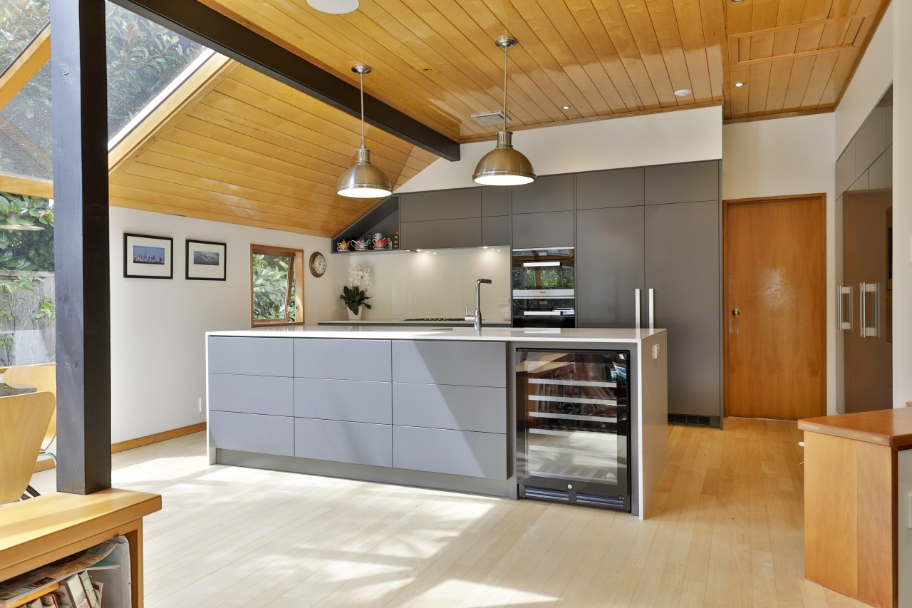 The elegant kitchen is as much a pleasure
