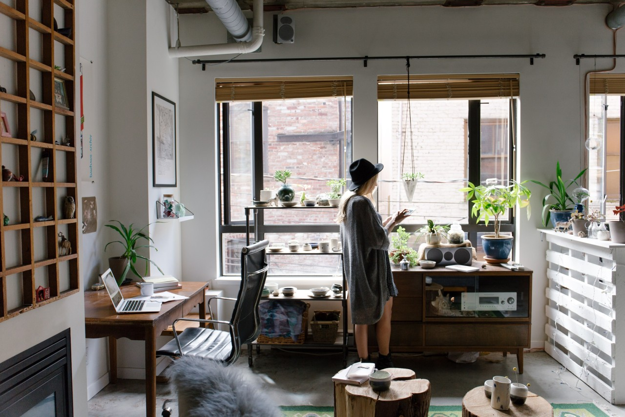 Ever wondered how you can put these new furniture, interior design, shelving, window, gray, black
