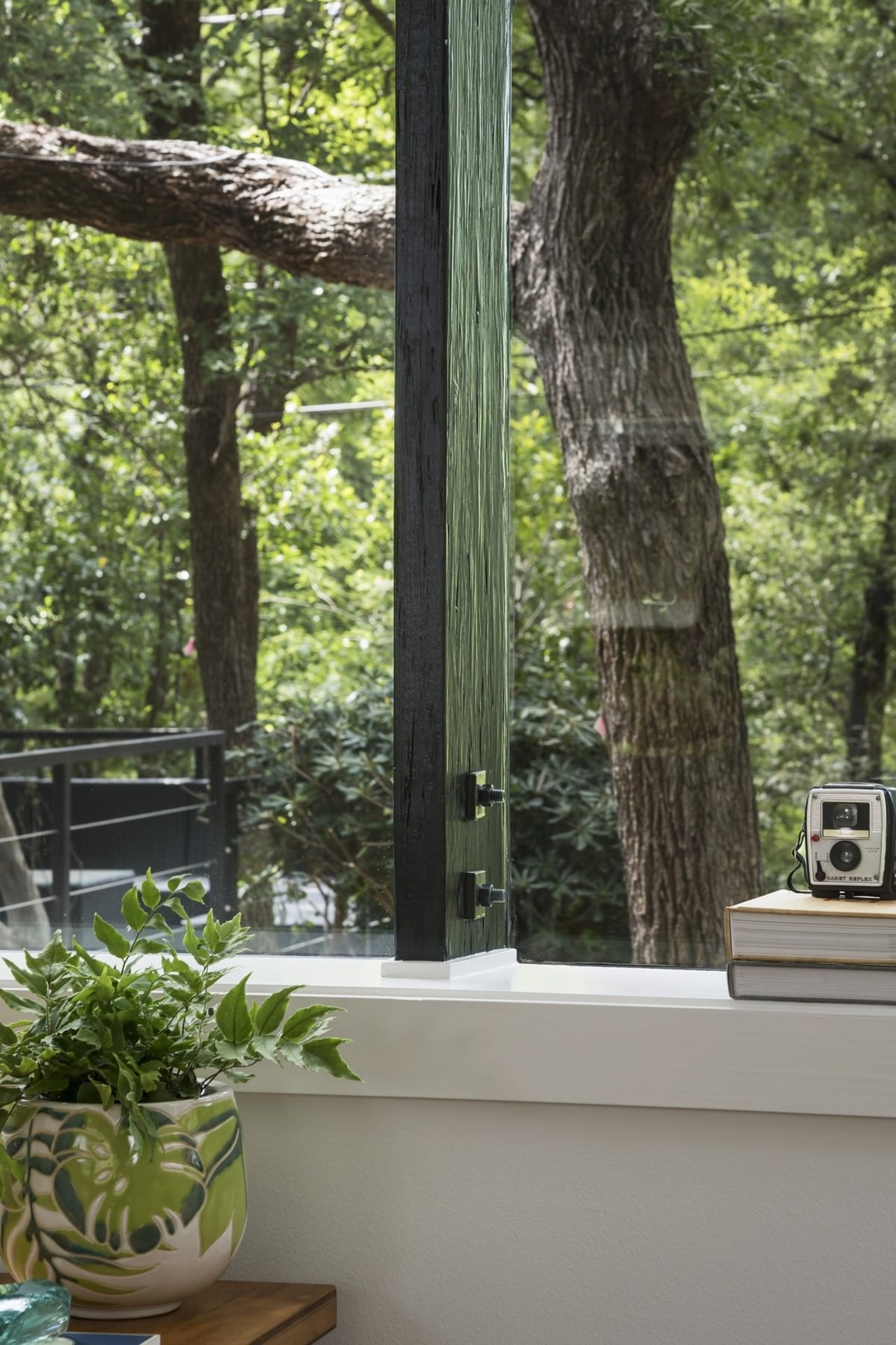 The beginning and the end – A tree home, house, outdoor structure, plant, porch, tree, window, wood, black