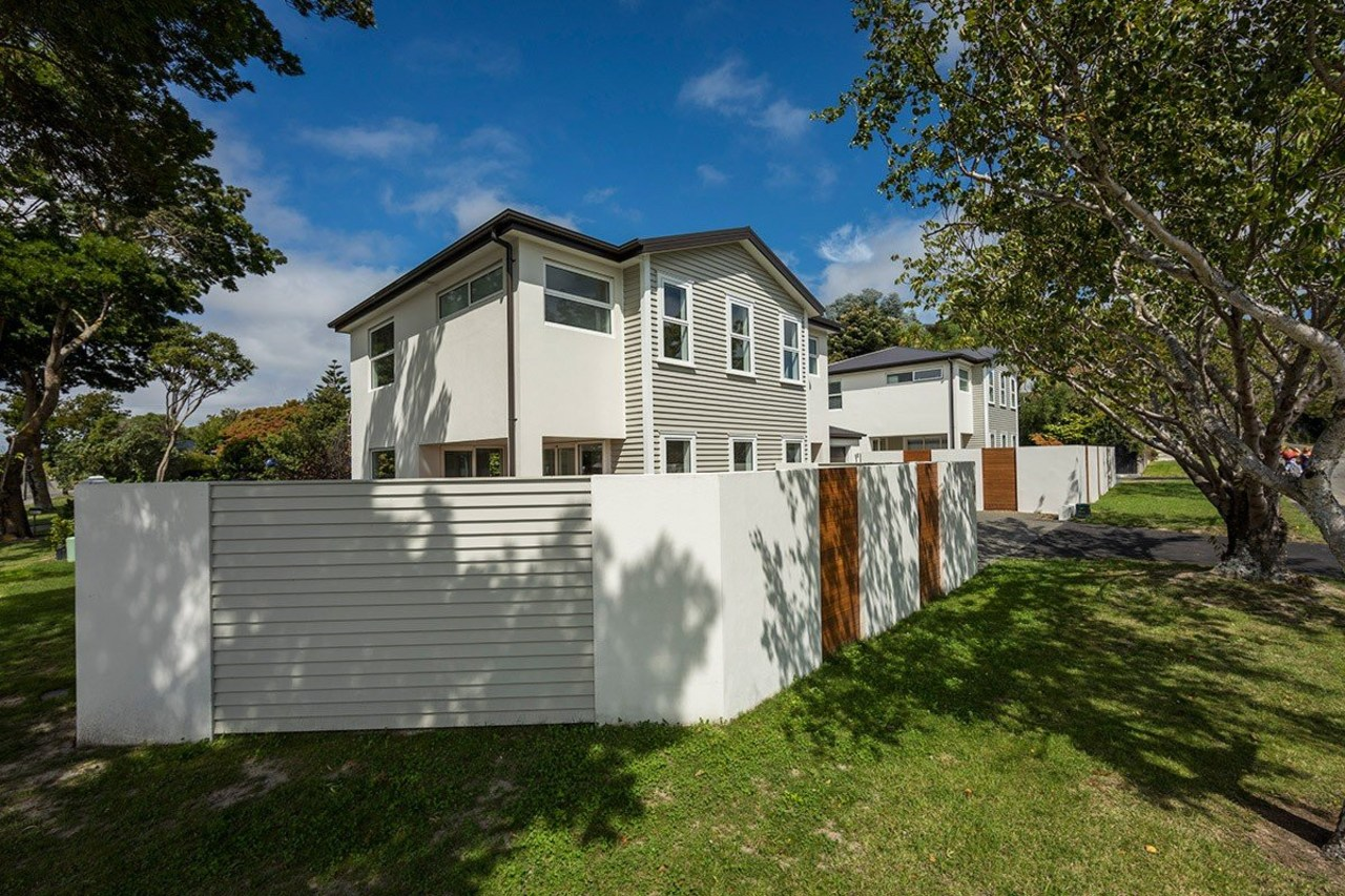 Canterbury homes clad with Envira timber weatherboards by architecture, cottage, estate, facade, home, house, property, real estate, residential area, brown