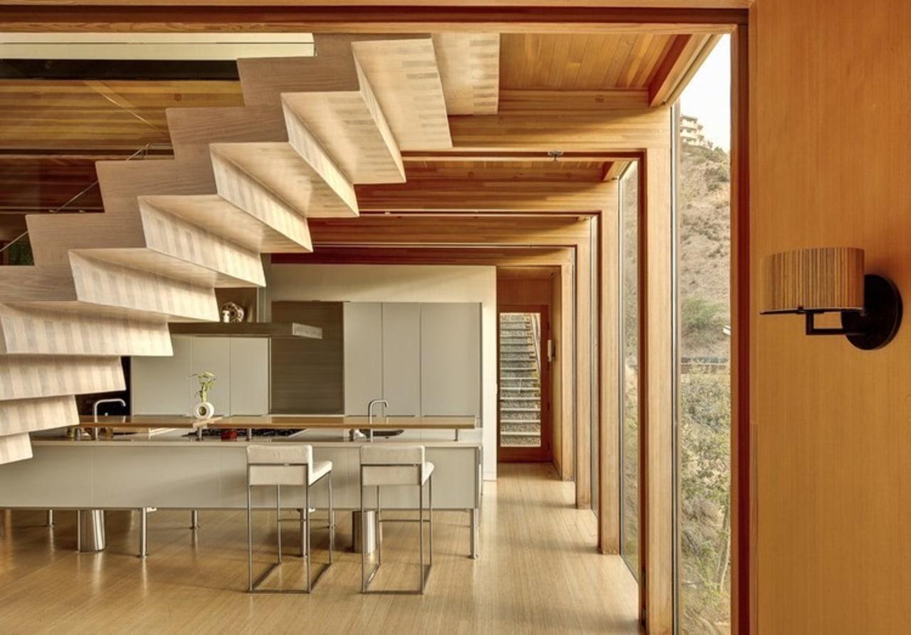 Architect: æ ArchitecturePhotography by Juergen Nogai architecture, ceiling, floor, flooring, hardwood, interior design, interior designer, laminate flooring, living room, lobby, wall, wood, wood flooring, brown, orange