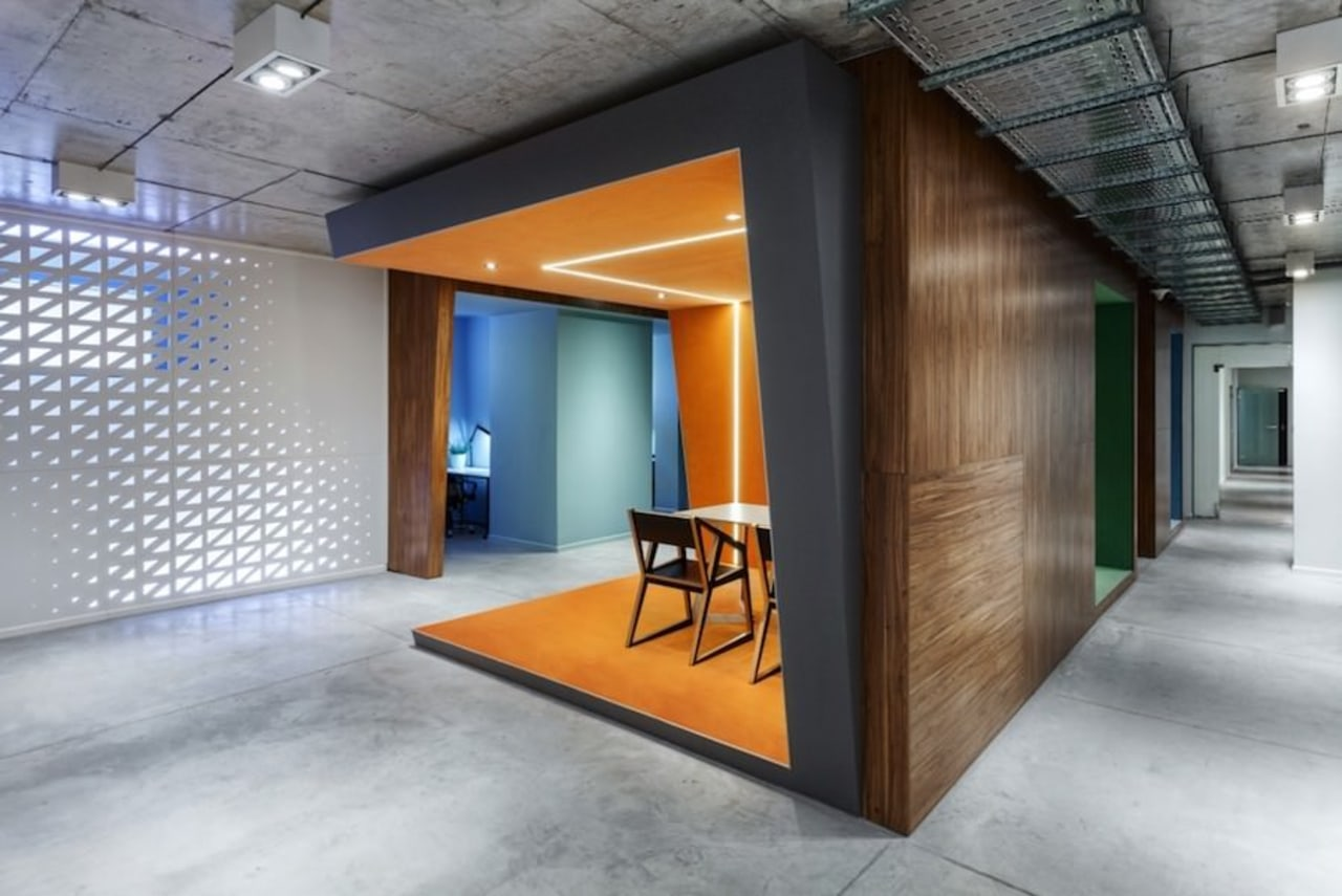 Architect: Martin Architects architecture, ceiling, floor, interior design, lobby, wall, gray