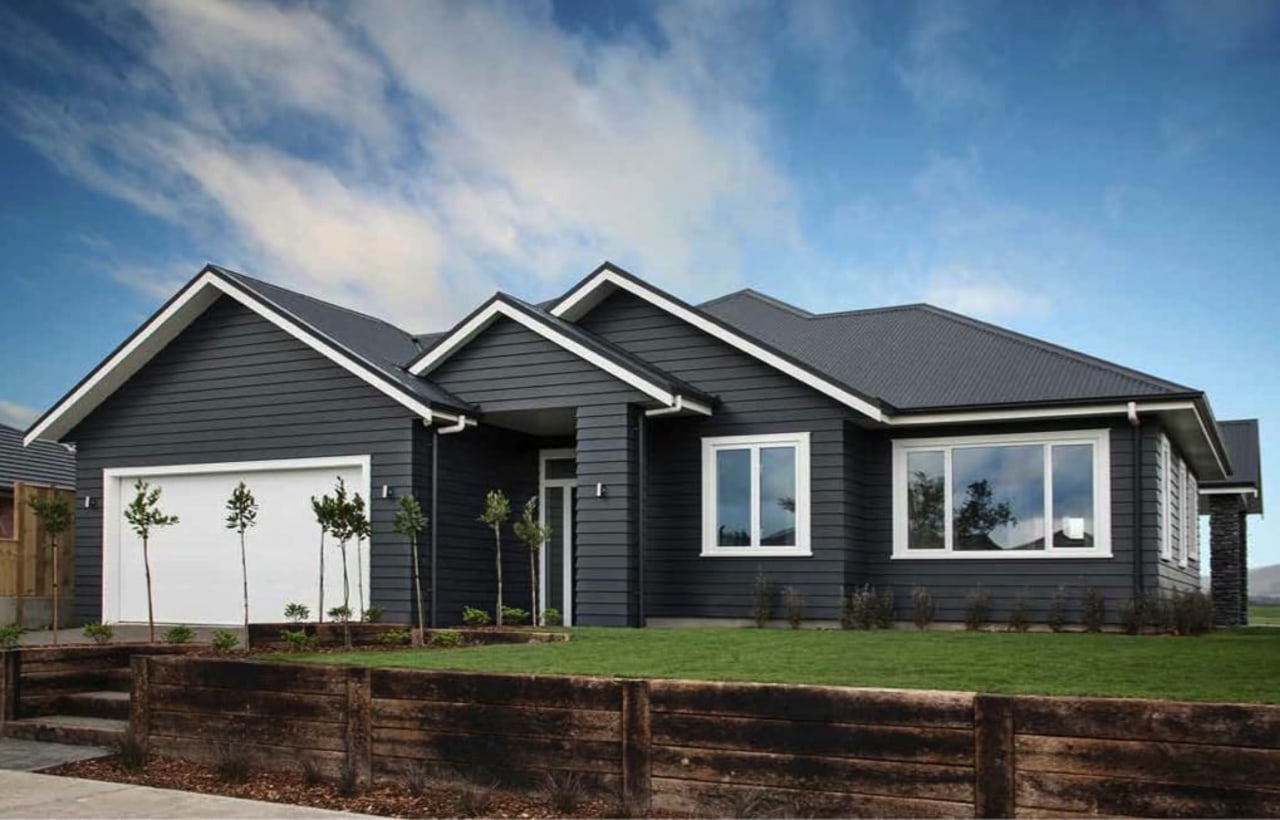 Street smart building, cottage, elevation, estate, facade, farmhouse, home, house, property, real estate, residential area, roof, siding, sky, black