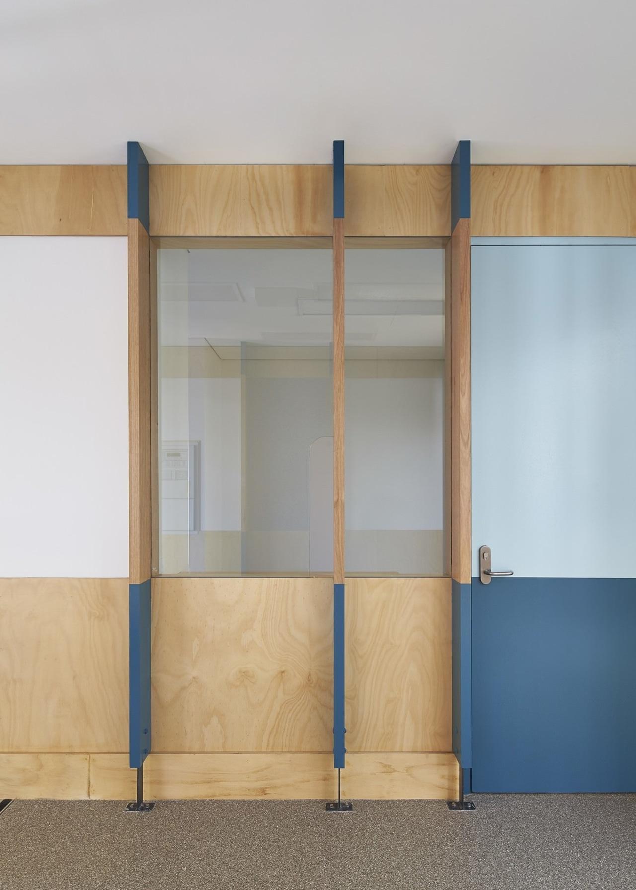 Tom Fisher House furniture, shelf, shelving, wall, wardrobe, wood, gray