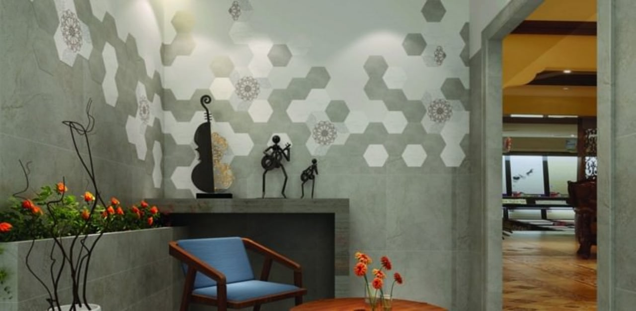 Newpearl tiles suit kitchens, bathrooms and living rooms architecture, ceiling, interior design, wall, wallpaper, gray