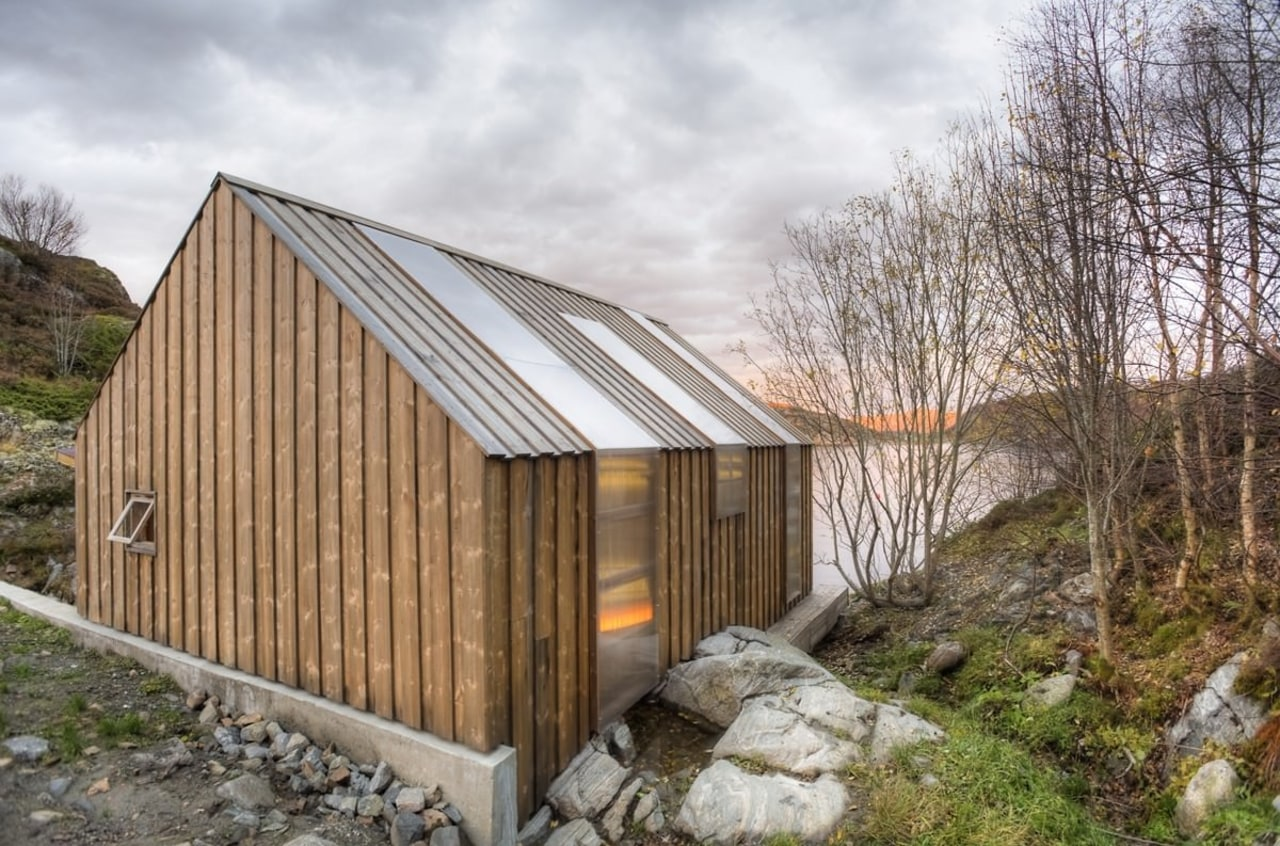 Photo: Pasi Aalto / pasiaalto architecture, cottage, home, house, hut, real estate, shack, shed, siding, wood, brown, gray, white