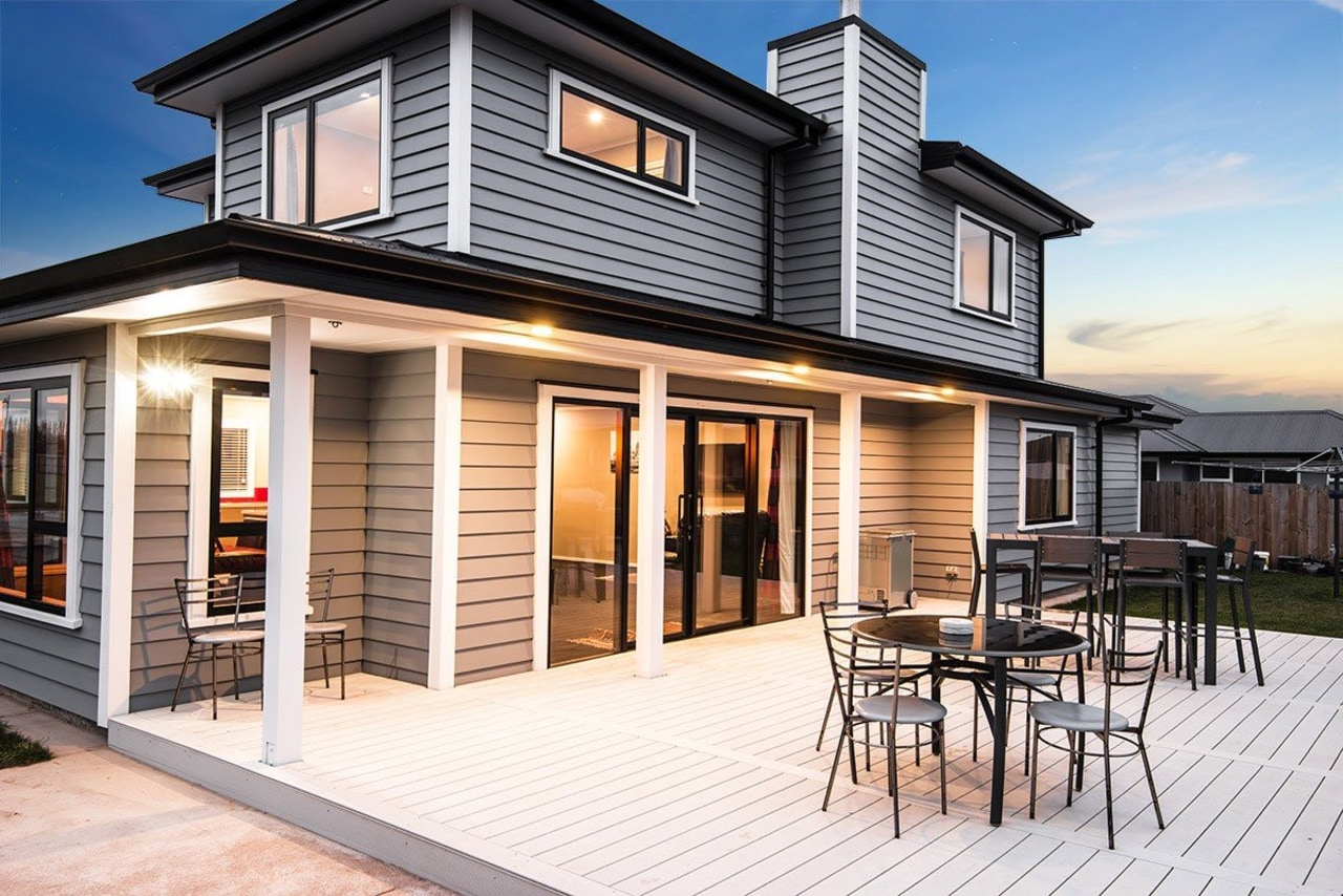 Outdoor living space - Outdoor living space - cottage, elevation, facade, home, house, property, real estate, siding, window, white