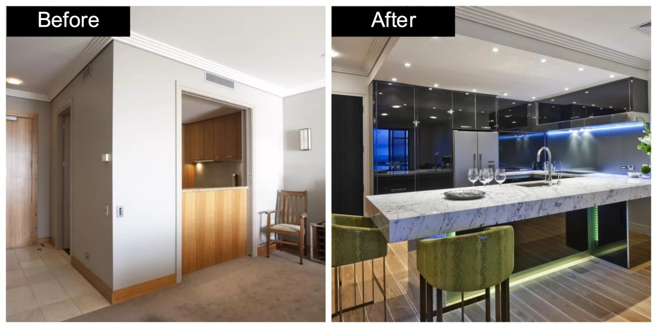 See more of this kitchen renvovation story.Designer: countertop, interior design, kitchen, real estate, white