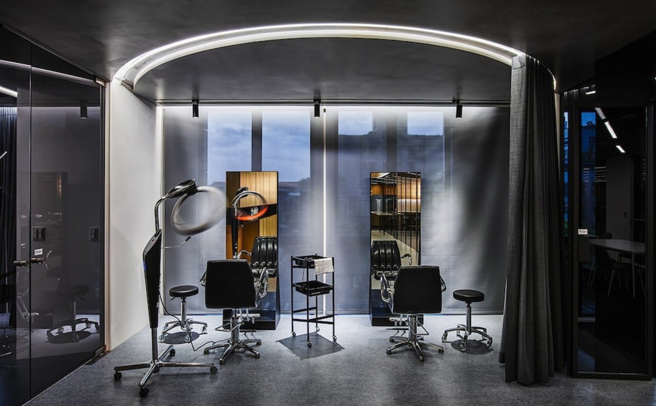 H Academy – Shi-Chieh Lu/CJ Studio interior design, black, gray